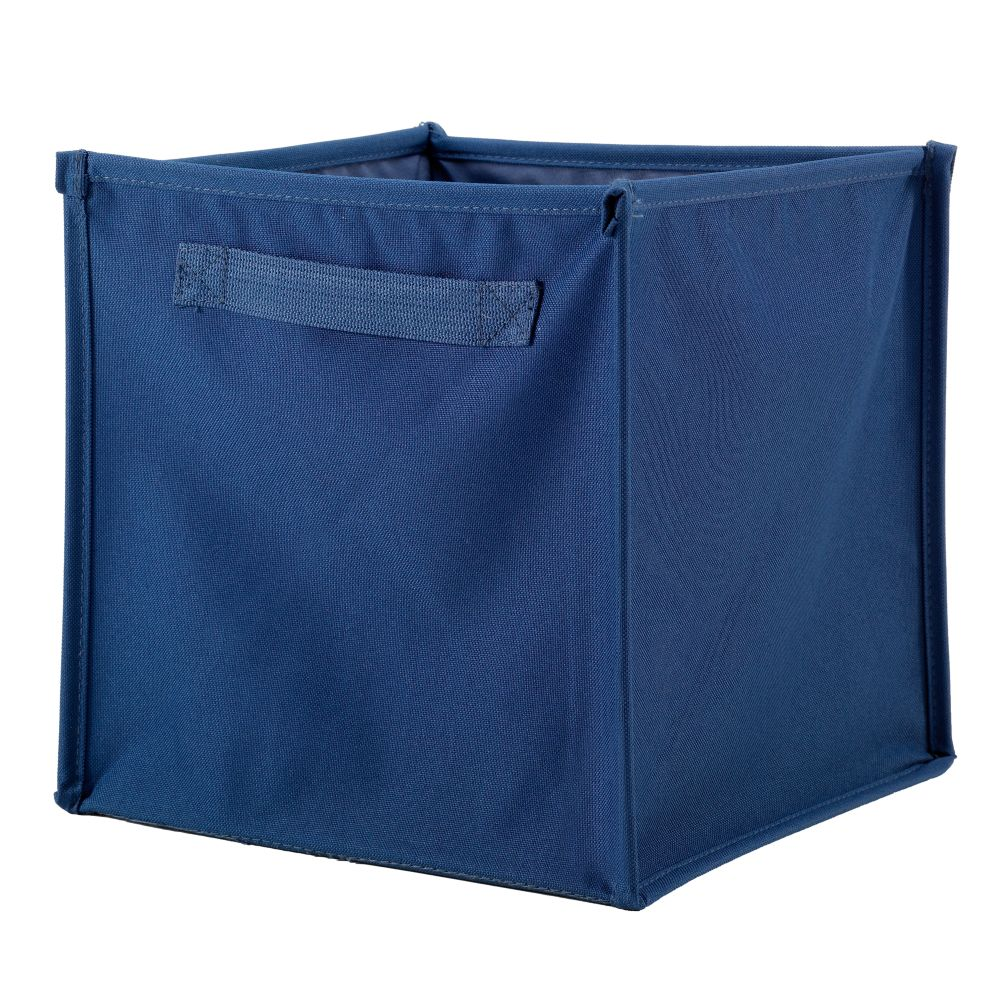I Think I Canvas Cube Bin (Blue)