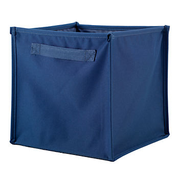 I Think I Canvas Blue Cube Bin