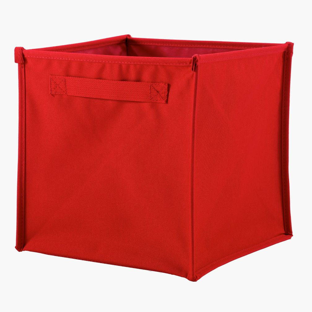 I Think I Canvas Red Cube Bin