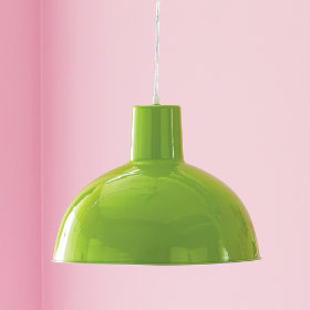 Green pendant lamp from The Land of Nod