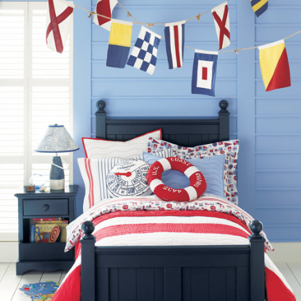 Kids Banners & Hanging Decor: Kids Nautical Flag Banner - Nautical Flag Banner