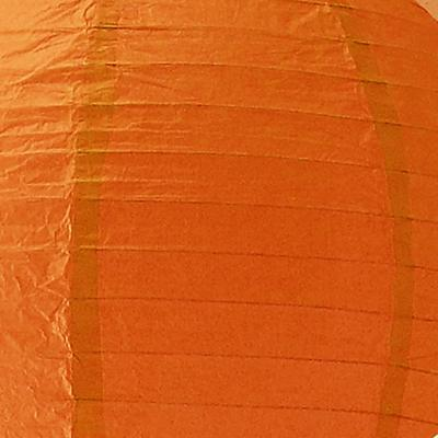 Orange Paper Lantern<br />(Not for use with a light source)