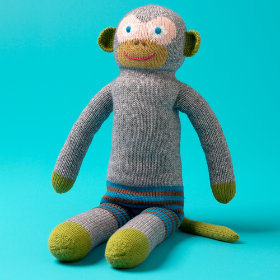 Cotton Yarn Stuffed Monkey for Kids