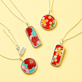Japanese Paper Flower Necklaces