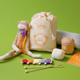 Kids Stuffed Monkey Craft Kit