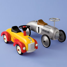 Yellow and Silver Toy Car Vintage Speedsters