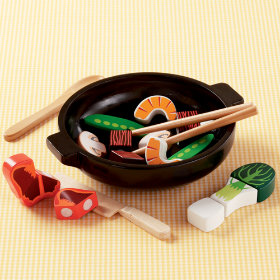 Kids Wooden Stir Fry Set Toy :  toy wooden cute kids