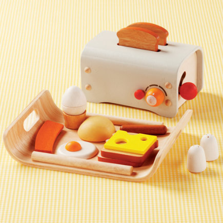 Kids Wooden Toaster Amp Breakfast Food Set From Land Of Nod