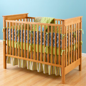 Natural Mission Style Solid American Maple Crib from landofnod.com