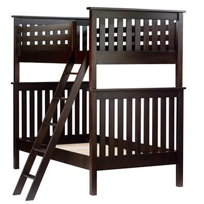 Twin Simple Bunk Bed (Espresso)