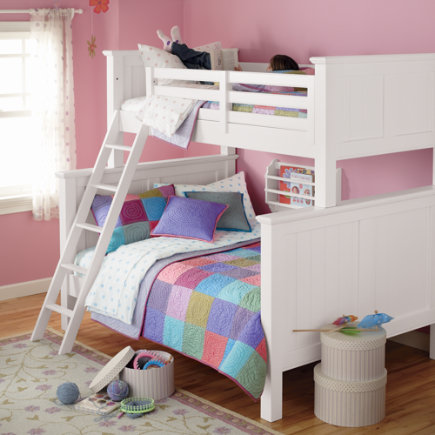 Kids' Bunk Beds: Kids Twin-Over-Full White Painted Walden Bunk Bed - Twin-Over-Full Bunk (White)