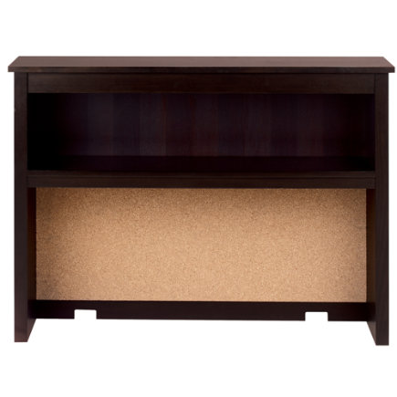 Espresso Simple Desk Hutch