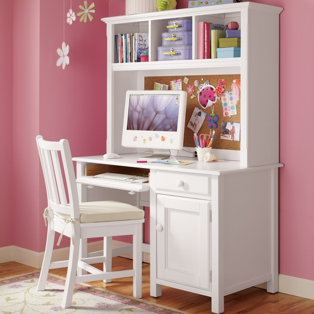 : Kids Desks & Chairs: Kids White Classic Wooden Walden Desk On Sale
