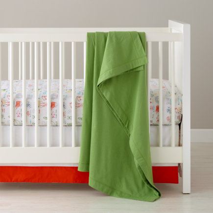 Crib Skirts: Animal Alphabet Crib Skirt - Dk