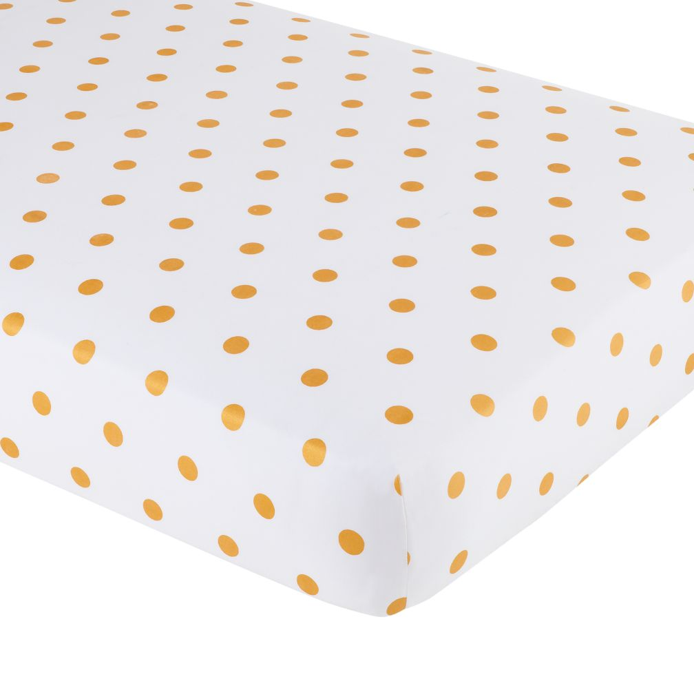 Marine Queen Crib Fitted Sheet Gold Dot The Land Of Nod