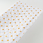 Gold Dot Print Changing Pad Cover