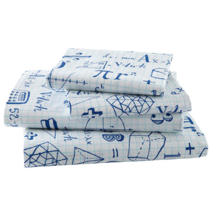 kids sheets mathematical equations sheet set twin show your work sheet set includes 1 fitted sheet 1 flat sheet and 1 case - Kid Sheets