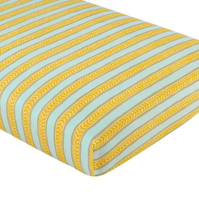 Elephants in the Room Crib Fitted Sheet (Stripe)