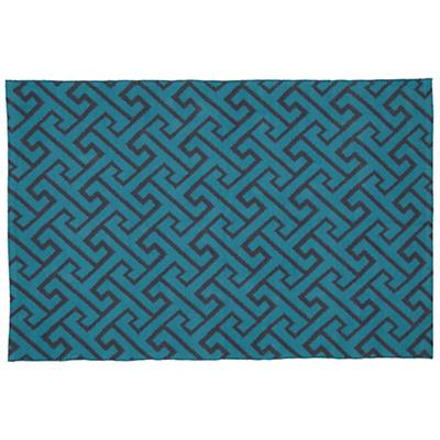 8 x 10' Locking Blocks Rug (Teal)