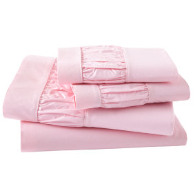 Girls Sheets: Pink Scalloped Sheet Set in Sheet Sets | The Land of Nod