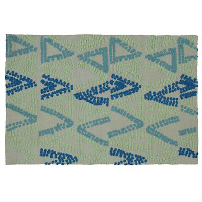 4 x 6' Evergreen and Blue Rug