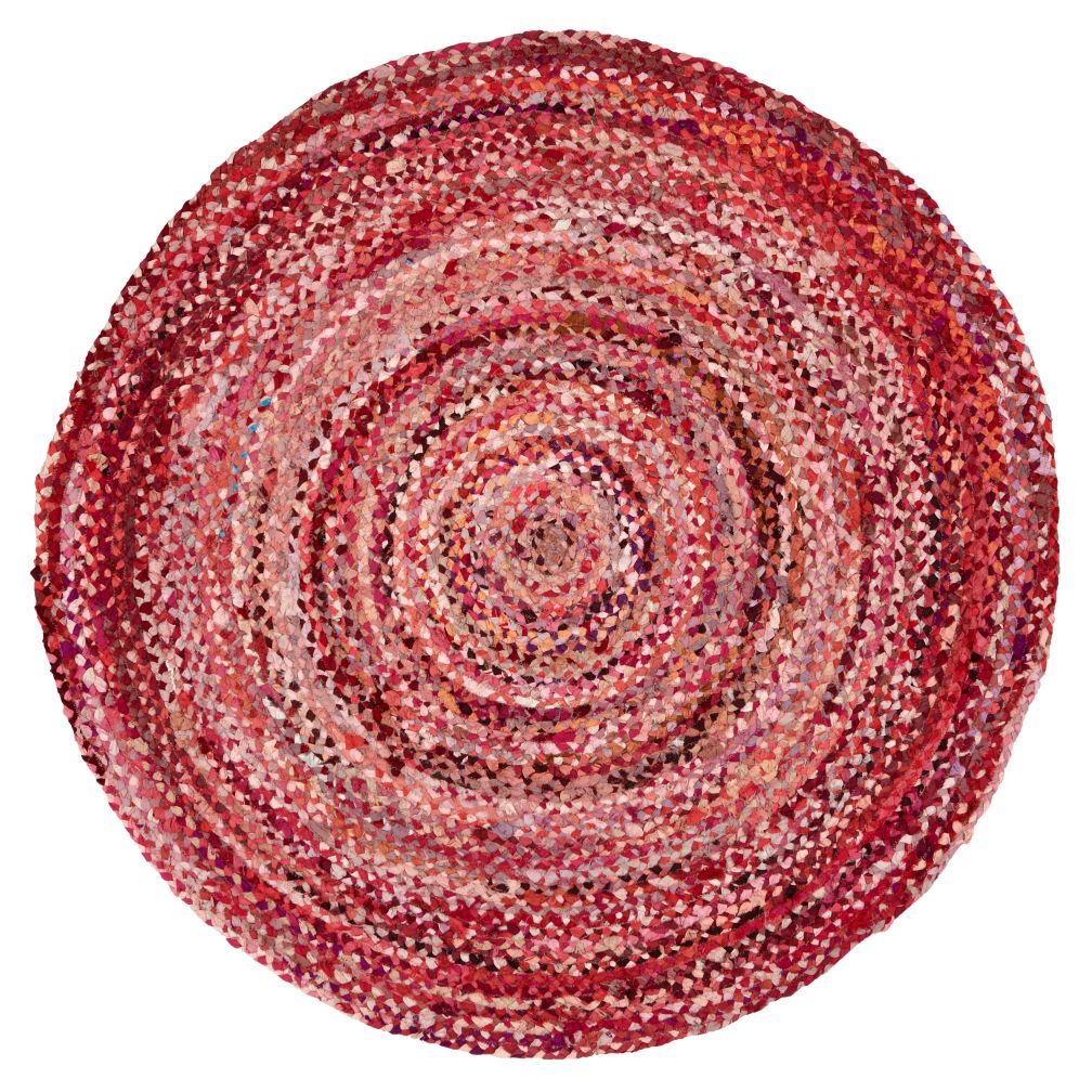 Ring Around the Ribbon Pink Round Rug