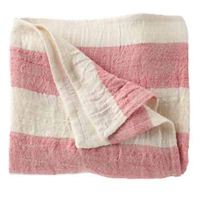 Lightly Striped Baby Blanket (Pink)