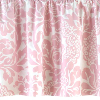 With a Flourish Crib Skirt (Pink)