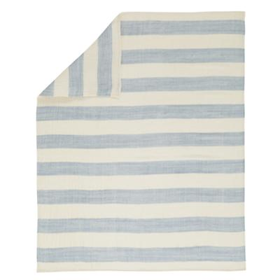 Lightly Striped Baby Blanket (Lt. Blue)