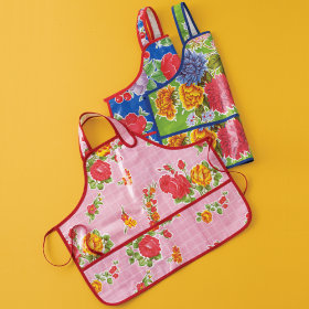 Kids Mexican Oilcloth Art Smocks and Aprons :  floral art apron oilcloth