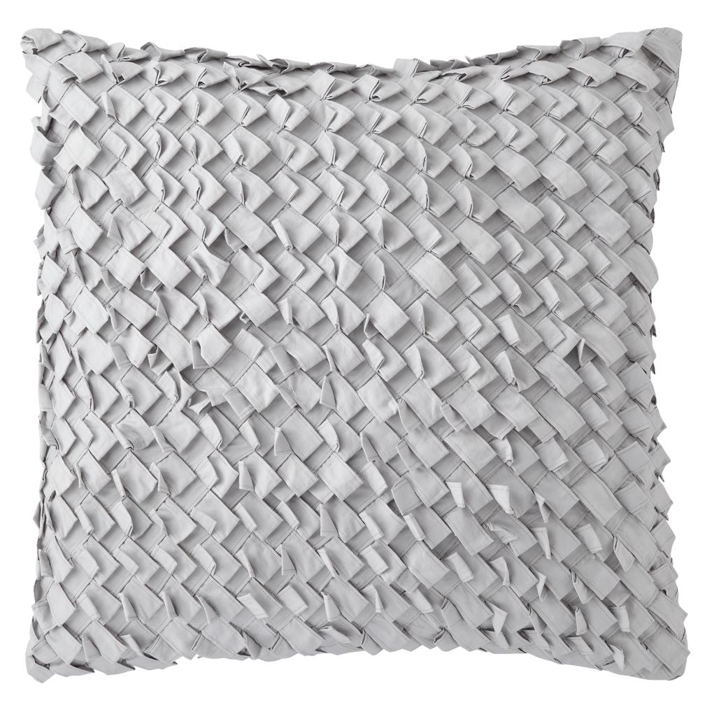 Antique Chic Basketweave Throw Pillow Cover