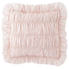 Set Rouched Antique Chic Pink Throw Pillow (Includes Cover and Insert)