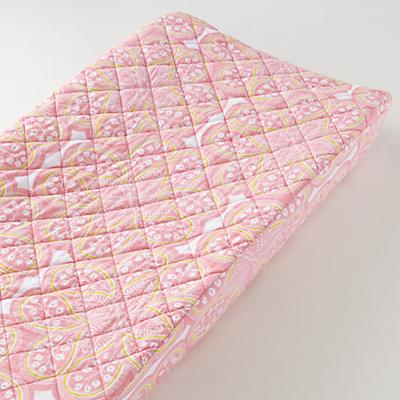 Mosaic Paisley Changing Pad Cover (Pink Floral)