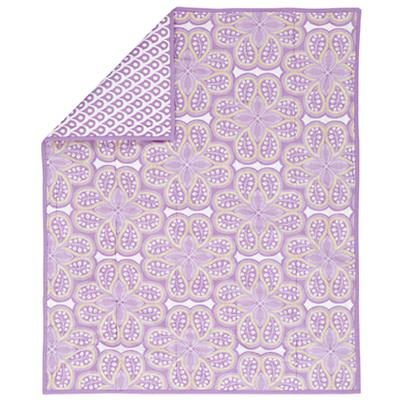Mosaic Paisley Baby Quilt (Lavender)