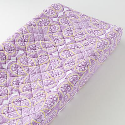 Mosaic Paisley Changing Pad Cover (Lavender Floral)