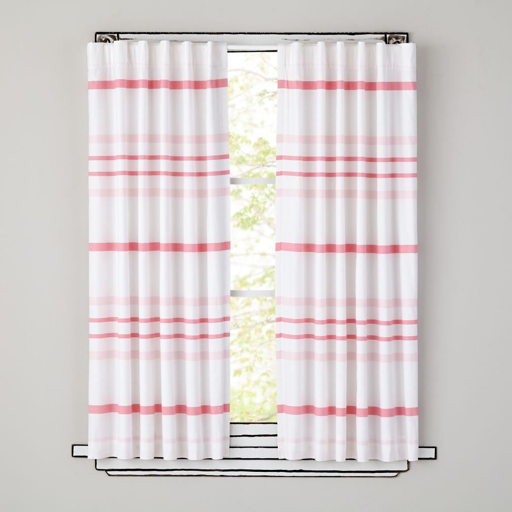 Wide Ruled Curtains (Pink)