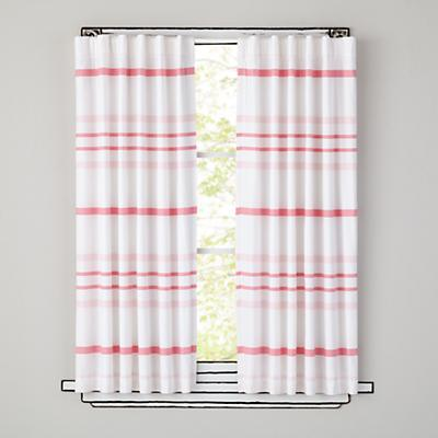 "84"" Wide Ruled Curtain (Pink)"