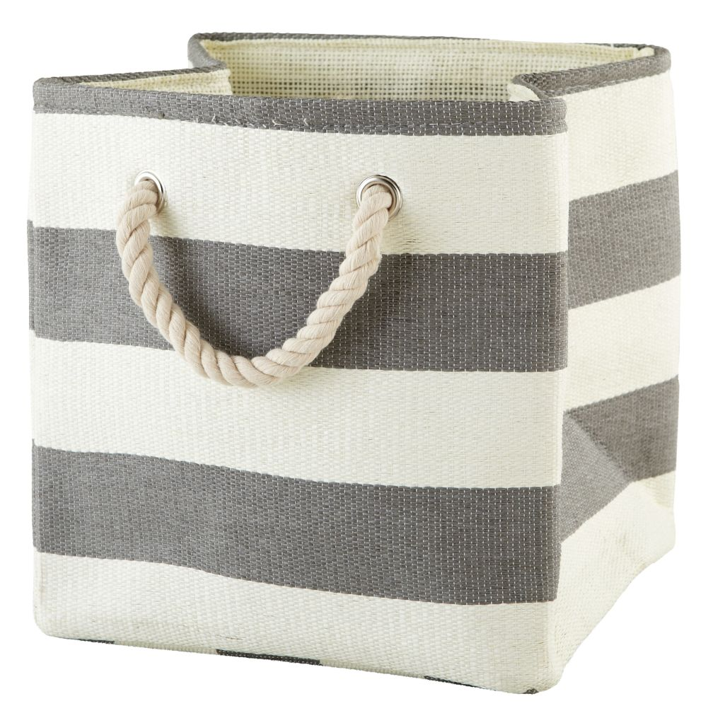 Stripes Around the Cube Bin (Grey)