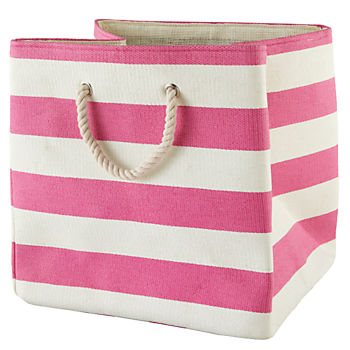 Stripes Around the Floor Bin (Pink)