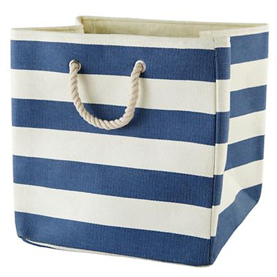 Stripes Around the Floor Bin (Dk. Blue)