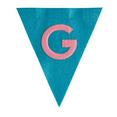 G Print Neatly Pennant Flag (Girl)