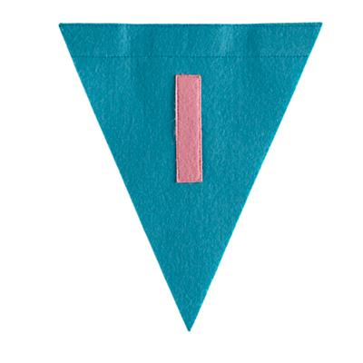 I Print Neatly Pennant Flag (Girl)