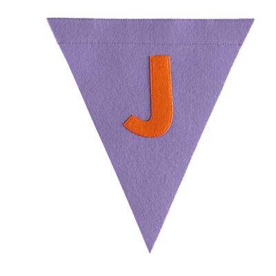 J Print Neatly Pennant Flag (Girl)