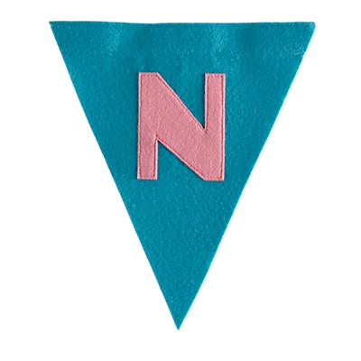 N Print Neatly Pennant Flag (Girl)