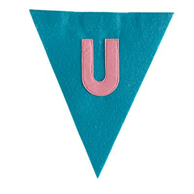 U Print Neatly Pennant Flag (Girl)
