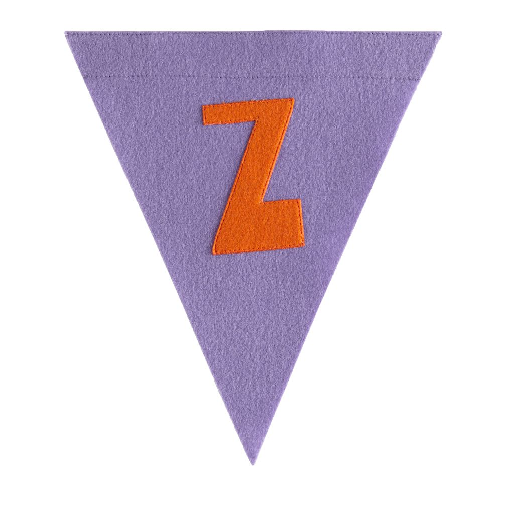 Z Print Neatly Pennant Flag (Girl)