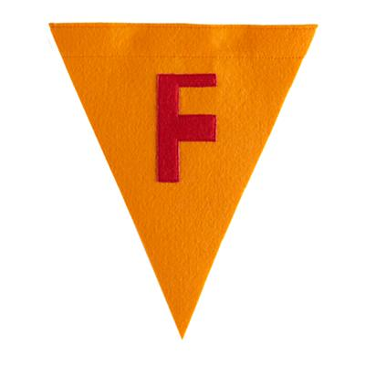 F Print Neatly Pennant Flag (Boy)