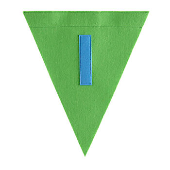 I Print Neatly Pennant Flag (Boy)