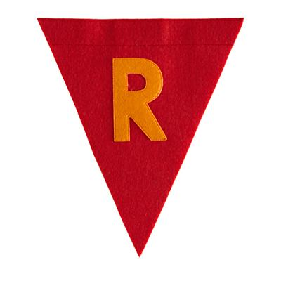 R Print Neatly Pennant Flag (Boy)