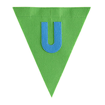 U Print Neatly Pennant Flag (Boy)